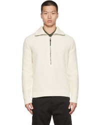 Moncler Off White T Neck Sweater