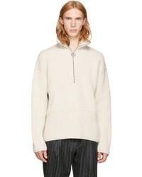 Acne Studios Off White Wool Neptune Sweater