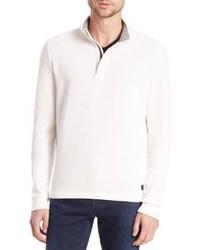 Hugo Boss Piceno Quarter Zip Cotton Sweater