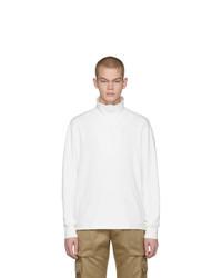 Barena White Calenda Zip Up Sweater