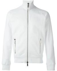 White Zip Sweater