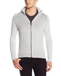 Calvin Klein Jeans Full Zip Mixed Guage Sweater