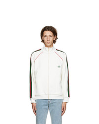 Gucci Off White Web Zip Up Sweatshirt