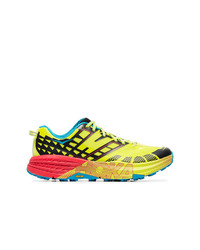 Hoka One One Yellow Speedgoat 2 Lace Up Sneakers
