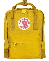 FjallRaven Mini Kanken Water Resistant Backpack Black