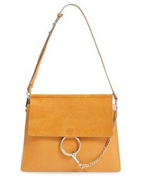 Chloé Chloe Faye Leather Suede Shoulder Bag