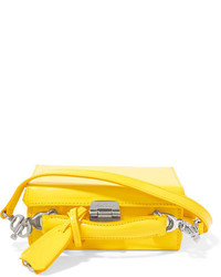 MARK CROSS Grace Mini Glossed Leather Shoulder Bag Yellow