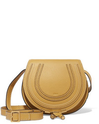 Chloé Marcie Mini Textured Leather Shoulder Bag Yellow