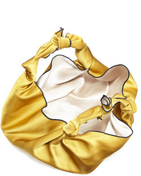 ... The Row The Ascot Small Satin Hobo Bag Sunflower ... 5daf8043a7b10