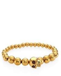 Alexander McQueen Brass Skull Ball Bracelet