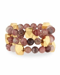 Nest Jewelry Mulberry Quartz Stretch Bracelets Set Of 3