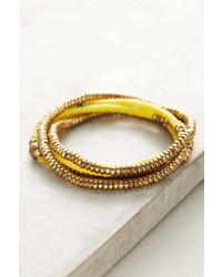 Anthropologie Slate Twisted Wrap Bracelet