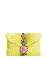 Yellow Beaded Clutch
