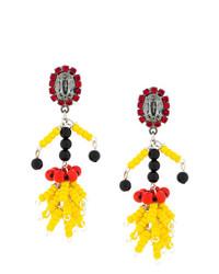Bead pendant earrings medium 8083014