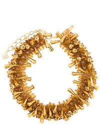 Oscar de la Renta Beaded Collar Necklace