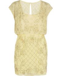 Aura embellished chiffon mini dress medium 228510