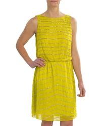 Beaded chiffon dress sleeveless medium 228509