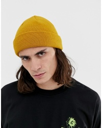 ASOS DESIGN Fisherman Beanie In Mustard