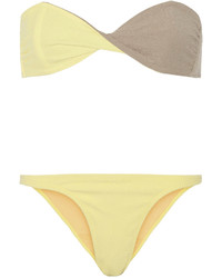 Lisa Marie Fernandez Alexia Two Tone Bandeau Bikini