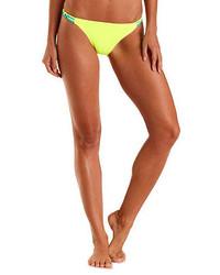 Charlotte Russe Neon Macrame Bikini Bottoms