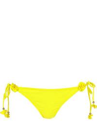 River Island Yellow 3d Flower Bikini Bottoms