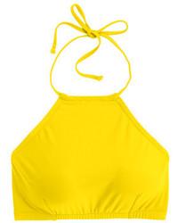Cropped halter bikini top medium 236196