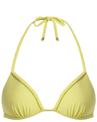 Dorothy Perkins Yellow Plait Triangle Bikini Top