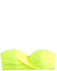 3dac09ea5e2f1 J.Crew Neon Twist Bandeau Underwire Bikini Top