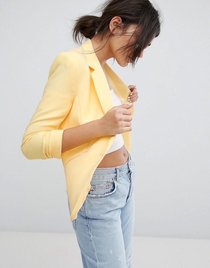 92d7b6dc8b951 Bershka Tailored Blazer, $33 | Asos | Lookastic.com