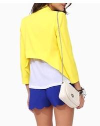 ChicNova Candy Color Slim Fit Irregular Blazer