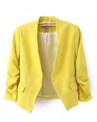 ChicNova Cropped Pastel Tailored Blazer