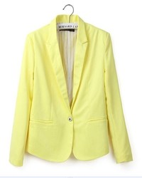 ChicNova Pure Color Slim Fit Blazer With Shrugging Shoulders