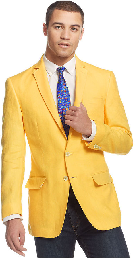 Sean John Color Linen Sport Coat | Where to buy & how to wear