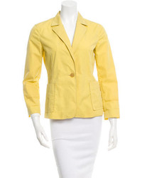 Jil Sander Yellow Single Button Blazer