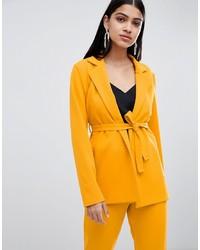 Lasula Longline Blazer In Yellow