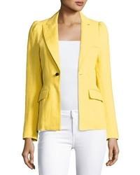 Smythe Mildred One Button Blazer Yellow