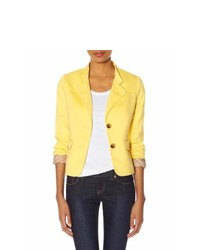 The Limited Obr Stand Collar Blazer Yellow S