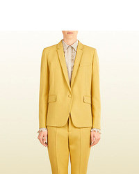 Gucci Wool One Button Blazer