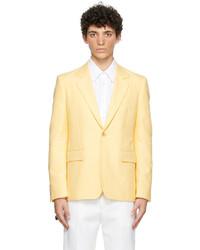 Alexander McQueen Yellow Cotton 70s Peak Rever Blazer