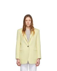 Isabel Marant Yellow Wool Felicie Coat
