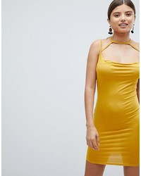 4f7918077b8b7 Missguided Bandeau Bandage Midi Dress In Yellow $25 · Missguided Cowl Neck Mini  Dress