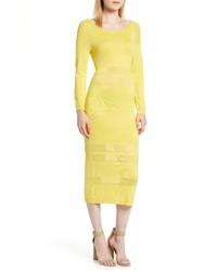 Sentimental NY Illusion Stripe Midi Dress