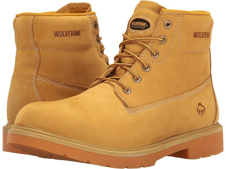 $96, Wolverine Polk 6 Waterproof Boot Work Lace Up Boots
