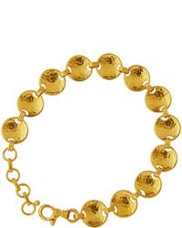 Gurhan Hourglass 24k Small Disc Link Bracelet