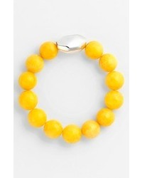 Simon sebbag stretch bracelet silver faceted yellow jade medium 66598