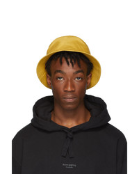 Acne Studios Yellow Buk Face Bucket Hat
