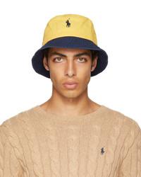 Polo Ralph Lauren Yellow Green Logo Chino Bucket Hat