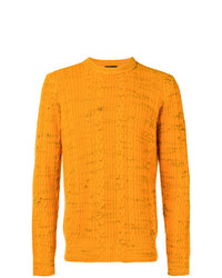 Roberto Collina Cable Knit Crew Neck Sweater