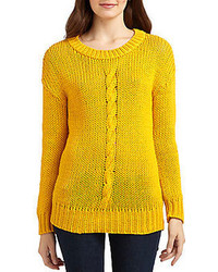 Robert rodriguez cable knit cotton sweater medium 67826