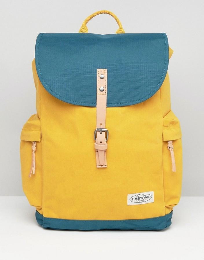 3eb48d635 Eastpak Austin Backpack In Yellow Green, $91 | Asos | Lookastic.com